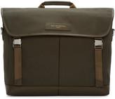 WANT Les Essentiels Green Canvas Jackson Messenger Bag