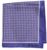 David Donahue Men's Medallion Silk Pocket Square