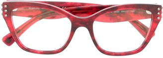Valentino Eyewear Rhinestone Embellished Glasses