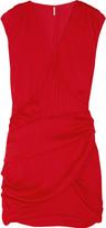 IRO Ariella washed-satin mini dress