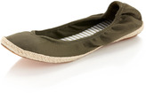 Splendid Raffia Ballet Flat, Military (Green)