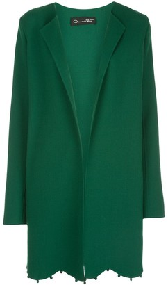 Oscar de la Renta Scalloped Long Jacket