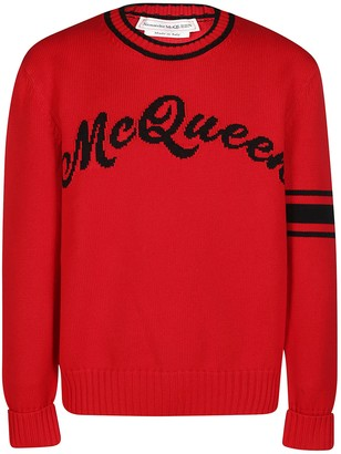 Alexander McQueen Intarsia Logo Sweater