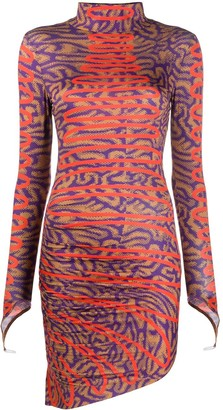 Maisie Wilen Abstract Print Fitted Dress