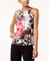INC International Concepts Floral-Print Halter Top, Created for Macy's