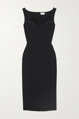 Alexander McQueen Crepe Midi Dress - Black