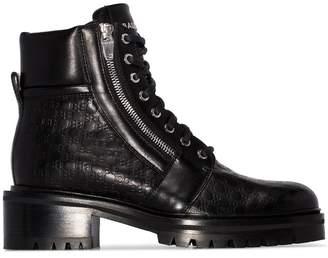 Balmain Ranger monogram ankle boots