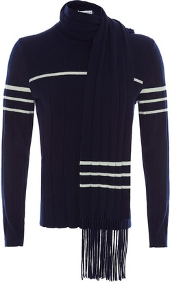 J.W.Anderson JUMPER WITH SCARF DETAIL