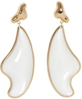 Sole Society Translucent Resin Organic Shaped Statement Drop Earrings