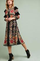 Anna Sui Ruffled Silk Dress