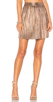 House Of Harlow x REVOLVE Flint Mini Skirt in Metallic Gold. - size XL (also in XS)