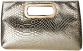 Jessica McClintock Tiffany Embossed Snake Clutch