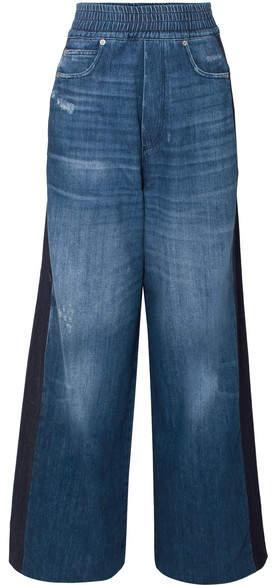Golden Goose Sophie Paneled High-rise Wide-leg Jeans - Mid denim