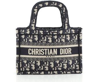 Christian Dior Book Tote Oblique Canvas Mini