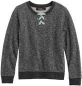 Girls 7-16 Sugar Rush Lace-Up Neck Sweatshirt