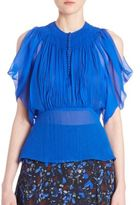Yigal Azrouel Crinkled Chiffon Top
