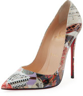 Christian Louboutin So Kate Printed Patent Red Sole Pump, Multi