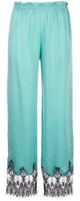 Icons Camelia lace trim trousers