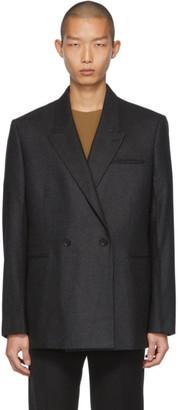 Bottega Veneta Grey Cashmere Flannel Blazer