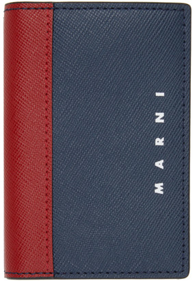 Marni Navy and Red Porta Card Holder
