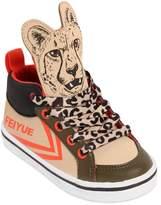 Feiyue Leopard Print Faux Leather Sneakers