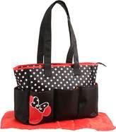 Disney Minnie Mouse Triple Pocket Tote Diaper Bag, Dots Print