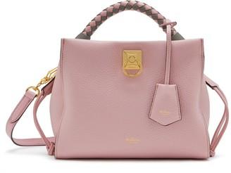 Mulberry Small Iris Powder Pink Heavy Grain with Powder Pink-Charcoal handle
