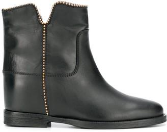 Via Roma 15 Zip Ankle Boot