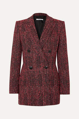 Givenchy Double-breasted Bouclé-tweed Blazer - Red