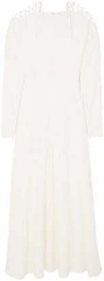 Stella McCartney Lace-up Cady Maxi Dress