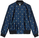 Gucci Bee jacquard bomber jacket