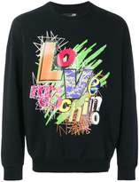 Love Moschino graphic logo sweatshirt