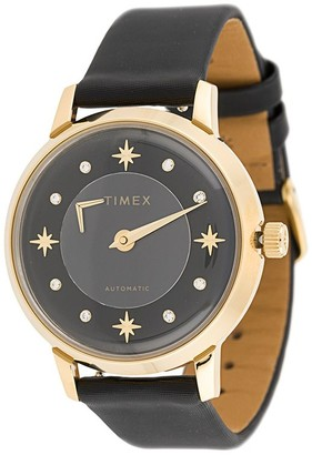 Timex 38mm Automatic gold-tone watch
