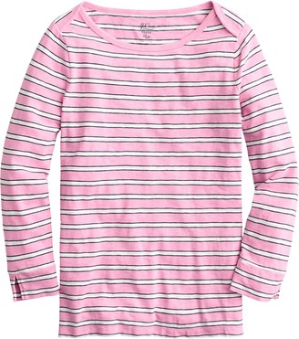 J.Crew Stripe Boatneck Painter T-Shirt