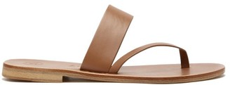 Álvaro González Alberta Leather Slide Sandals - Tan