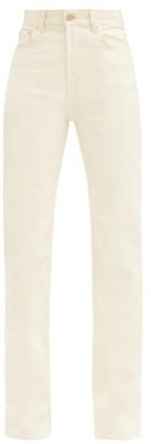 Jacquemus Nimes High-rise Straight-leg Jeans - Cream