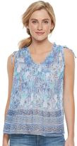 Women's SONOMA Goods for LifeTM Print Pintuck Top