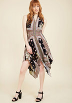 ModCloth Down to a Fine Scarf A-Line Dress in M