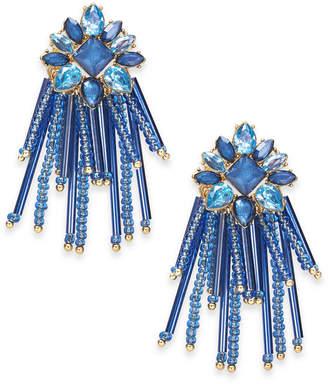 INC International Concepts Inc Gold-Tone Stone & Bead Chandelier Earrings