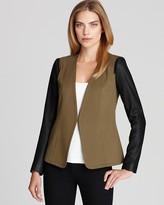 DKNY Theory Blazer - Yaisa Leather Sleeve