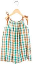 Bonpoint Girls' Plaid Scoop Neck Dress