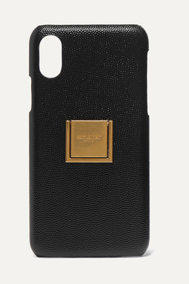 Saint Laurent Embellished Textured-leather Iphone X And Xs Case - Black