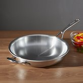 "Crate & Barrel ZWILLING ® Demeyere Atlantis Proline Stainless Steel 11"" Fry Pan with Helper Handle"