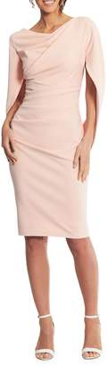 Betsy & Adam Draped Sheath Dress