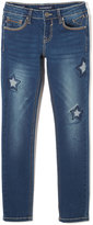 Vigoss Dark Wash Star Patch Skinny Jeans - Girls