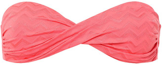 Melissa Odabash Martinique Twisted Jacquard Bandeau Bikini Top
