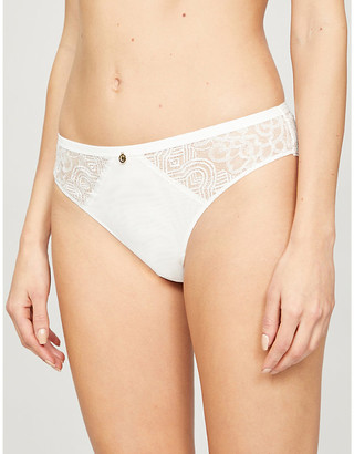 Chantelle Dusk stretch-lace tanga briefs
