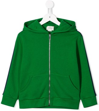 Gucci Kids Side Panelled Zipped Hoodie