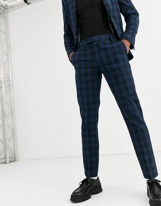 Asos Design DESIGN skinny suit pants in navy seersucker