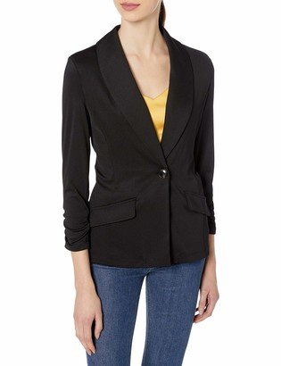 Kasper Women's One Button Shawl Jacket